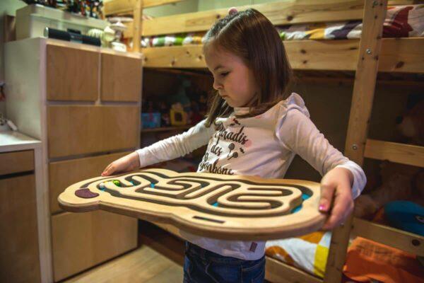 ENTRERRUAS laberinto madera niños