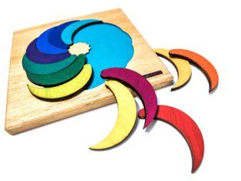 Luas puzzle de madera para niños