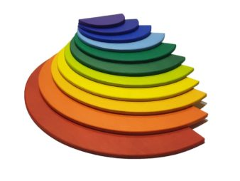 juguetes waldorf Semicirculos de Madera