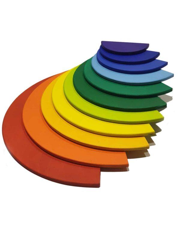 Semicirculos De Madera - juguetes waldorf