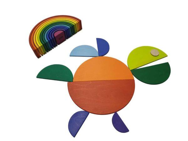 Semicirculos De Madera - juguetes de waldorf