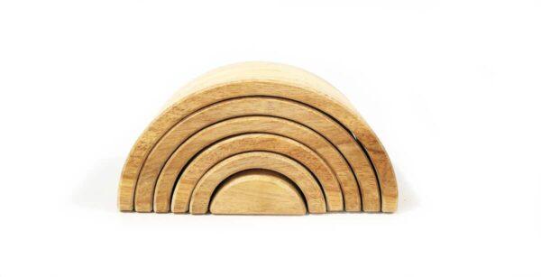 Arcoiris madera Waldorf pequeño
