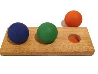 3 esferas de madera waldorf
