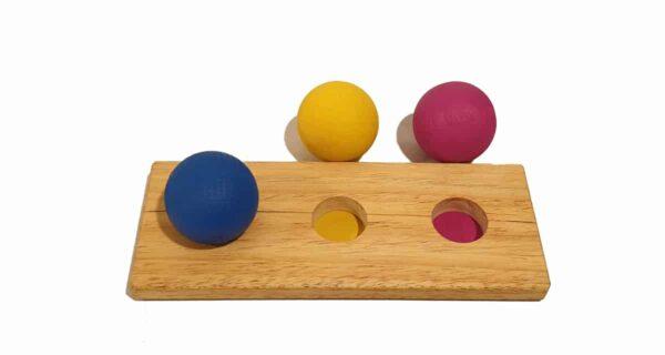 3 esferas de maderawaldorf