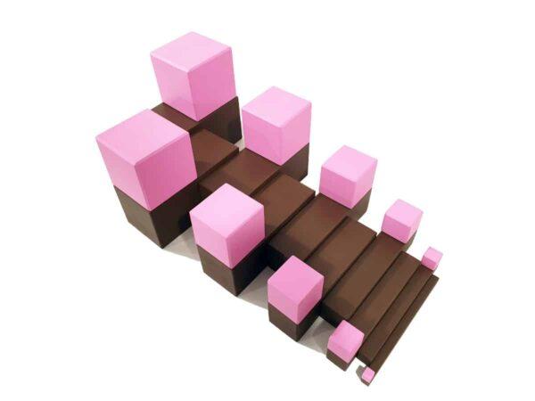 escalera marron montessori - habitar las formas