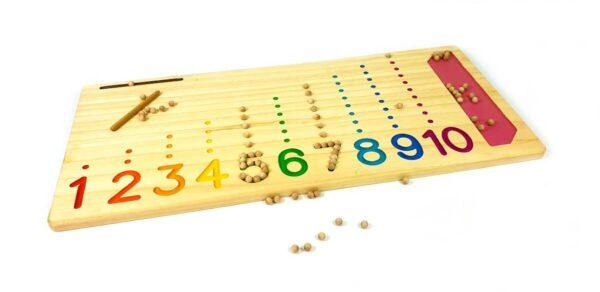 Juego matemático Montessori