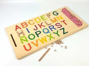 Tabla de madera abecedario Montessori