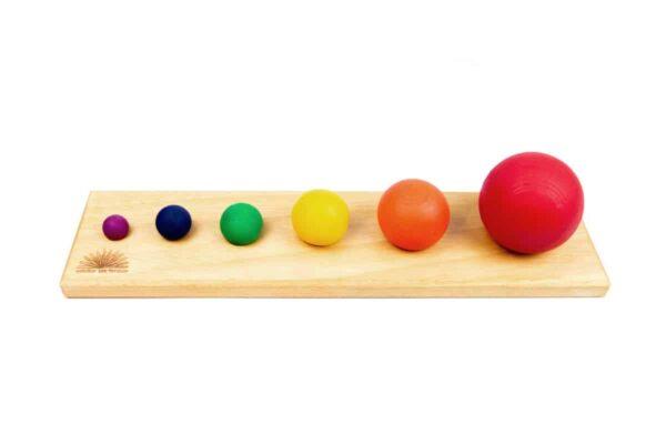 Esferas diferentes diámetros